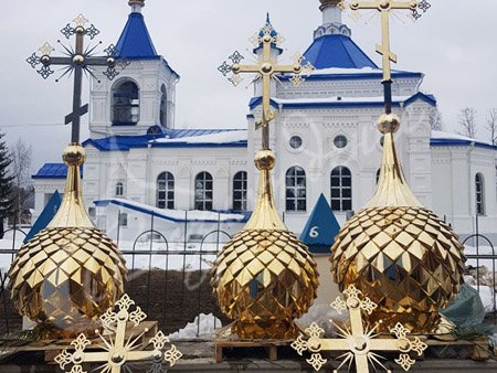 Технологии золочения церковных куполов