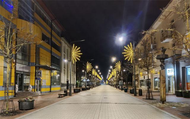 новогодние улицы Шяуляя, Литва